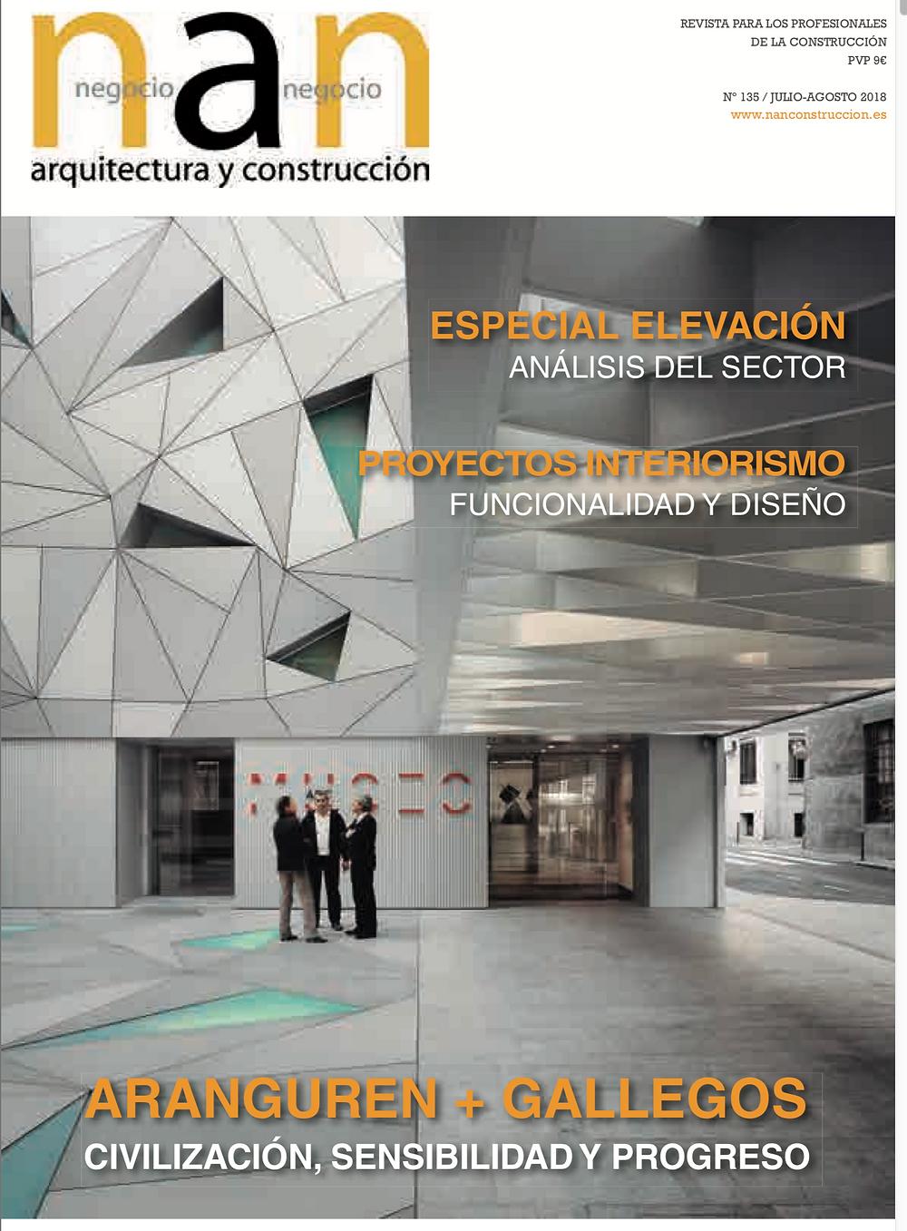 Portada numero revista NAN arquitectura y construcción