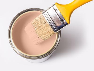 Pot de peinture et pinceau