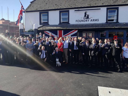 outside the foundry arms in poole