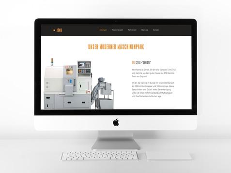 Website für die Industrie