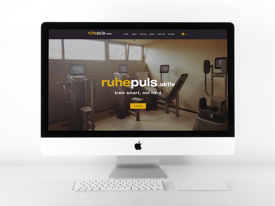 Website für Fitnessstudio
