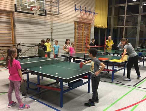 Tischtennis Anfängertraining