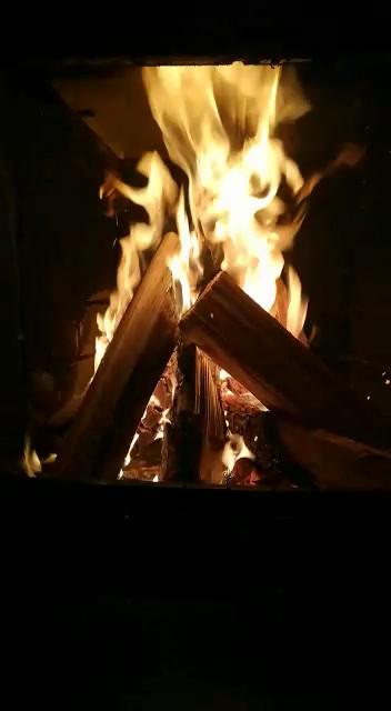 Das knisternde Kaminfeuer