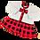 серое платье в клетку с бантом для девочки