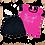 костюм для девочки футболка и шортики черный с розовым