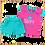 костюм для девочки футболка и шортики бирюзовый