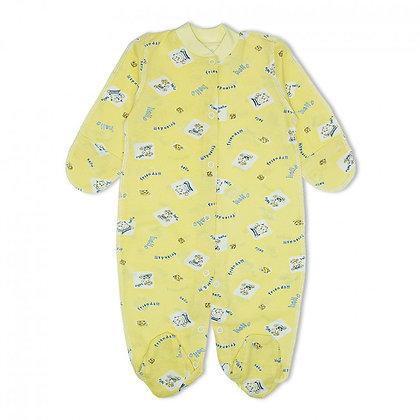 человечек на кнопках для новорожденных желтый