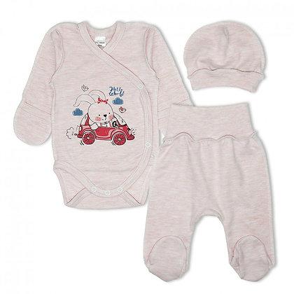 комплект для младенца с шапочкой розовий
