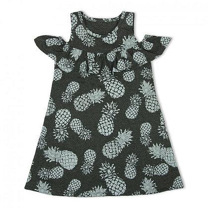 Сарафан платье легкое летнее с открытыми плечами серое для девочек