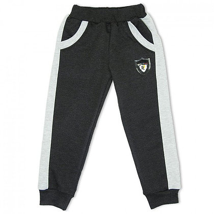 штаны спортивные с полосками лампасами белыми детские серые