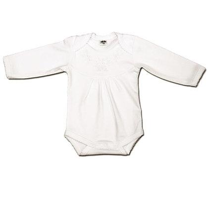 бодик вышиванка с вышивкой белый