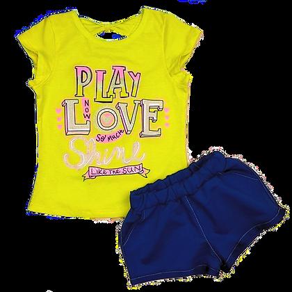 костюм комплект для девочки с шортами и футболкой