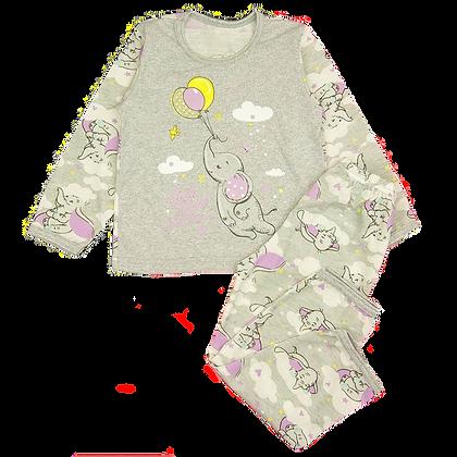 пижама для девочек фиолетовая со слоником