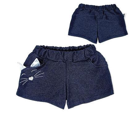 шорты короткие для девочки джинсовые
