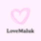 нарисованное сердце розового цвета с надписью love maluk