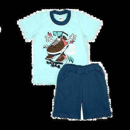 комплект шорты и футболка для мальчика голубой