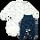 костюм для новорожденного слоники синий