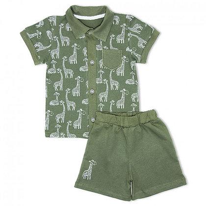 набор тенниска и шорты для мальчика хаки