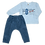 костюм для мальчика штанишки и кофточка с рукавом голубой