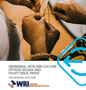 coer page only Final - Aboriginal Arts and Culture Officer review and Policy Issue Paper 1