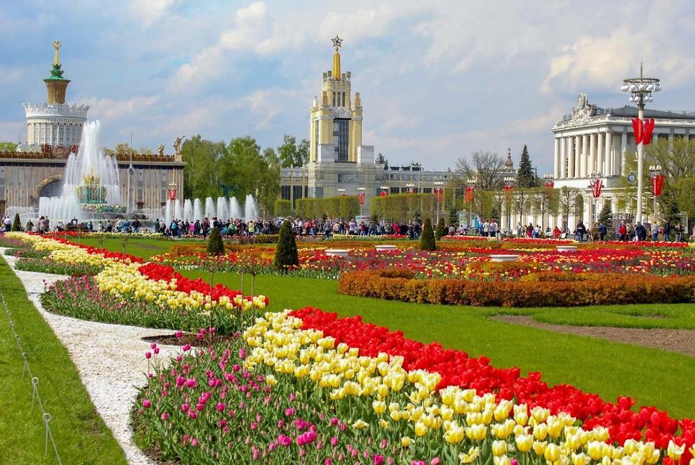حديقة فدنخا داخل في مدينة موسكو