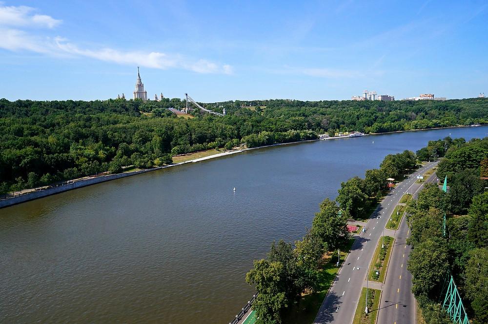 منطقة تلال لينين في مدينة موسكو