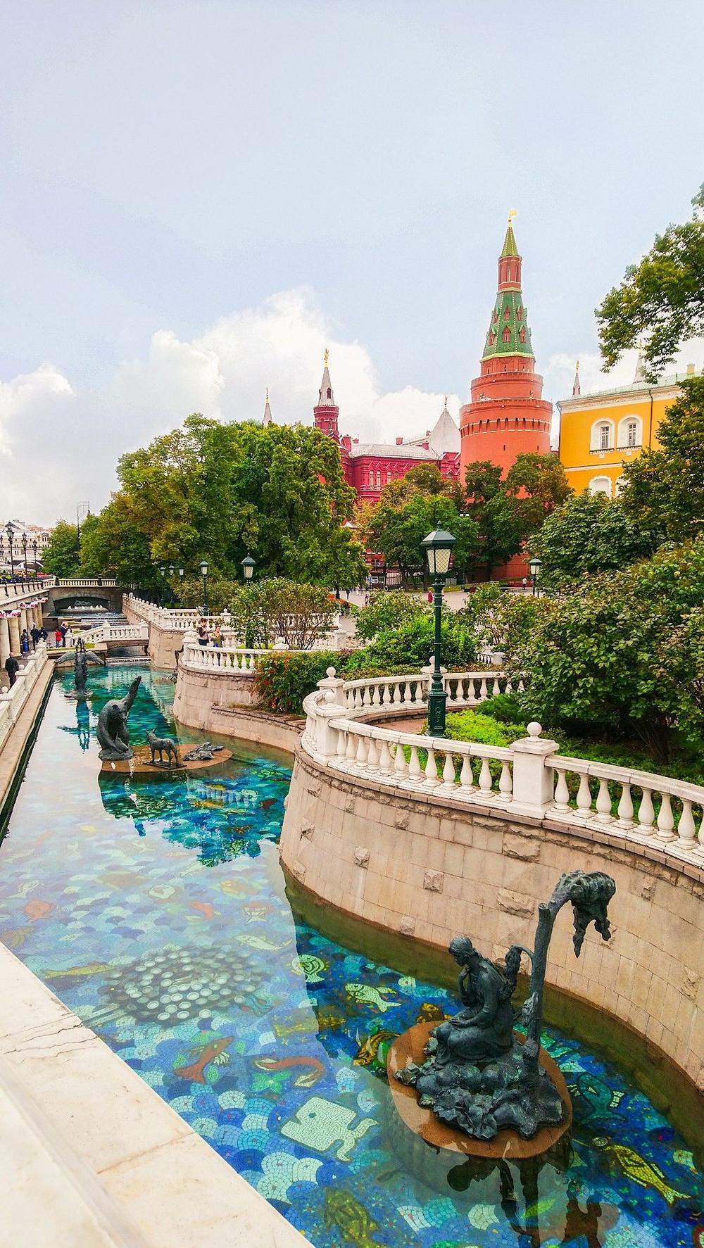الطبيعة في الوسط من مدينة موسكو