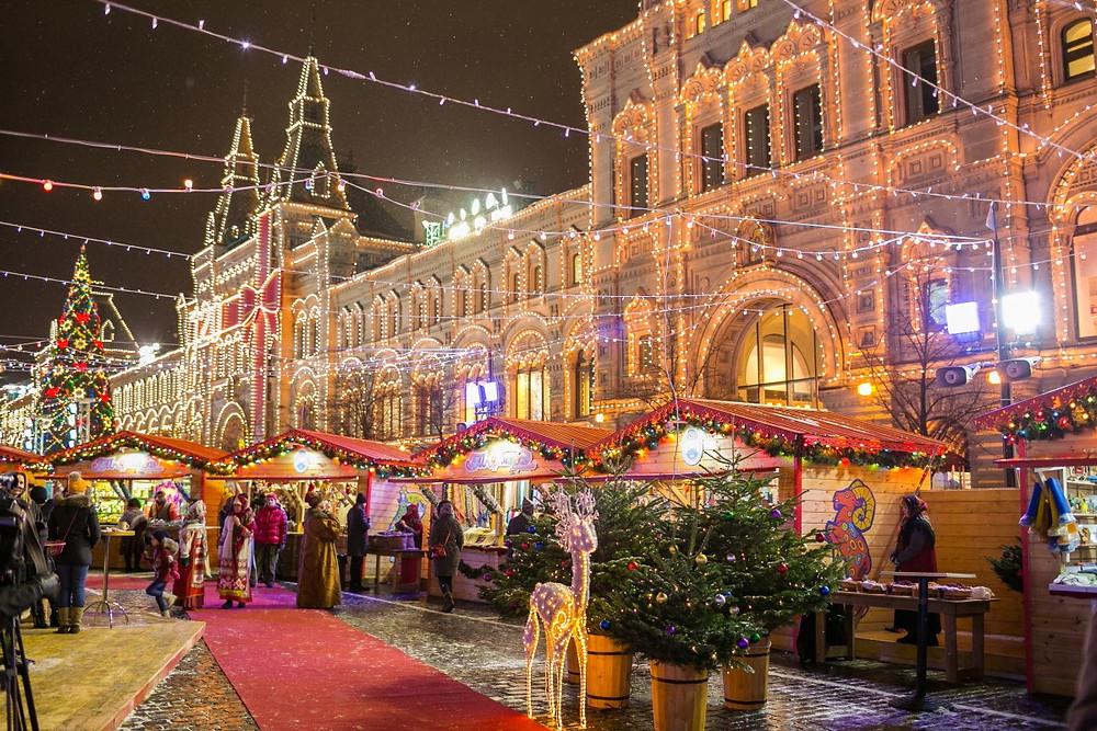 مجمع جوم في مدبنة موسكو الروسية