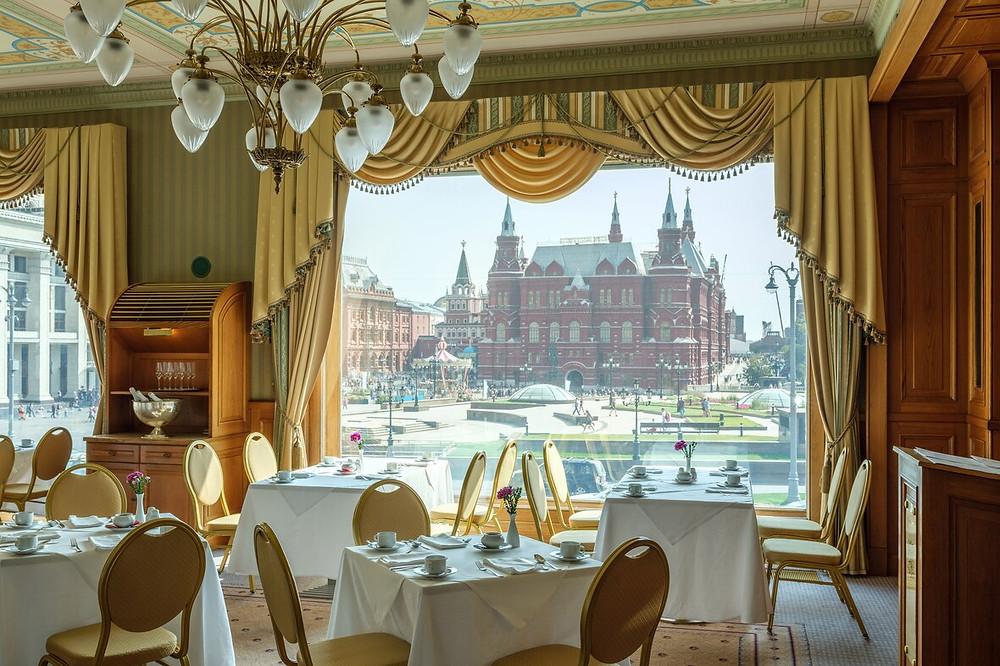 مطعم يشرف على الميدان الاحمر في موسكو
