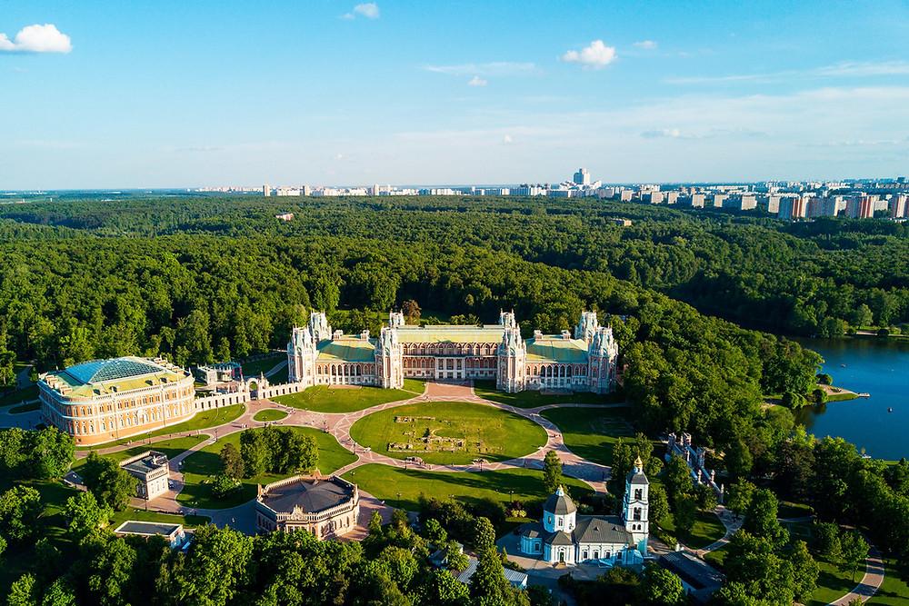 حديقة تسارستسينا في مدينة  موسكو