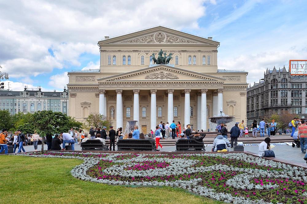 المسرح الكبير في مدينة موسكو الروسية