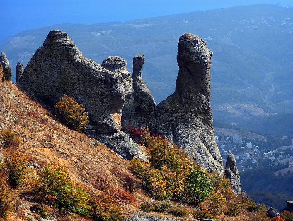 وادي شبح دمرجي في شبه جزيرة القرم الروسية