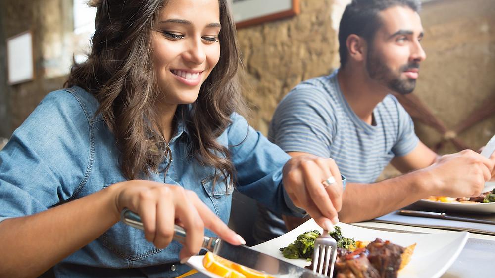 وجبة طعام شهية تجلب الابتسامة