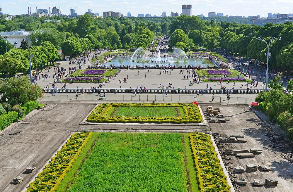 حديقة غوركي في مدينة موسكو