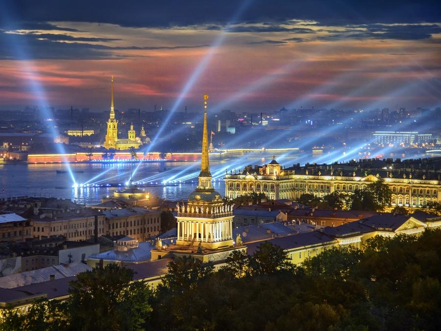 منظر لمدينة سانت بطرس بورغ