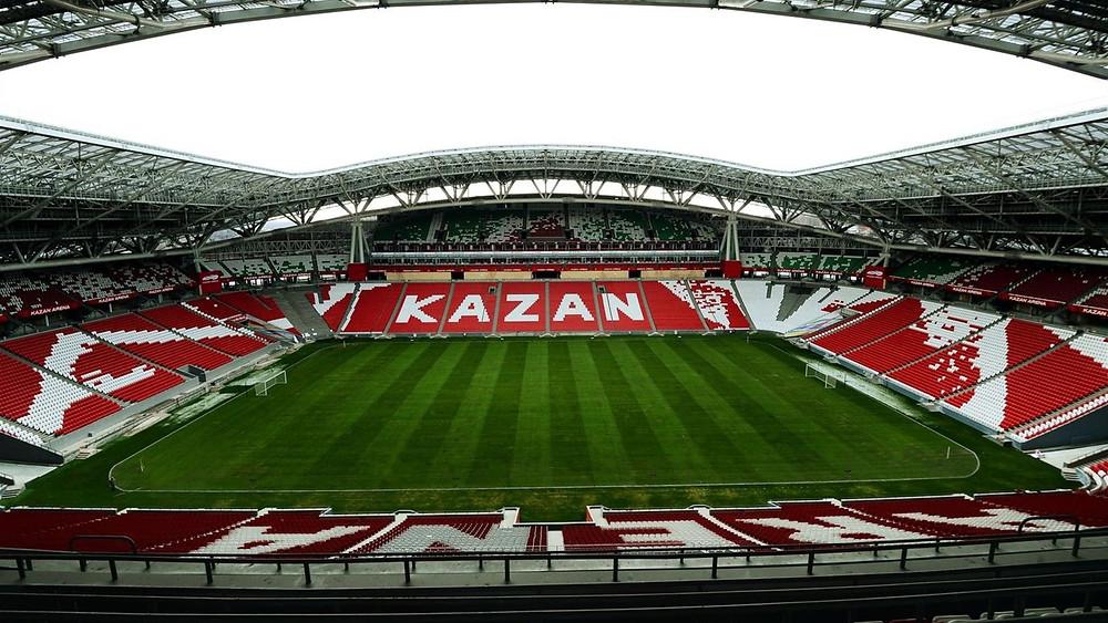 ملعب كرة القدم في مدينة كازن الروسية