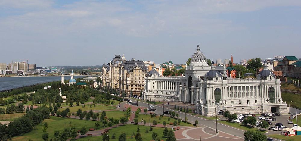 قصر المزارعين في مدينة كازان الروسية
