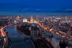 منظر عام لمدينة موسكو