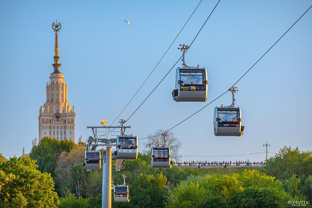التلفريك في مدينة موسكو الروسية