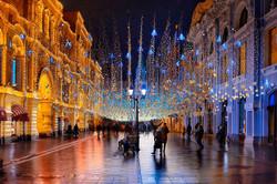 شارع نيكولسكايا في وسط موسكو