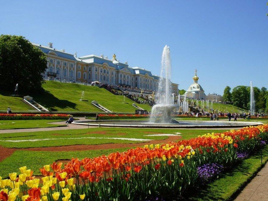 حدائق بترهوف في ضواحي مدينة سانت بطرسبورغ الروسية