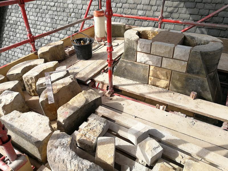 Repairs to high level masonry