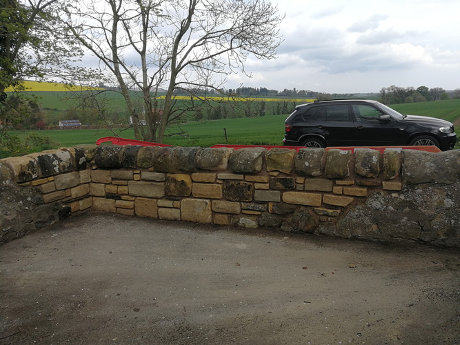 Repairs to small section of boundary wall