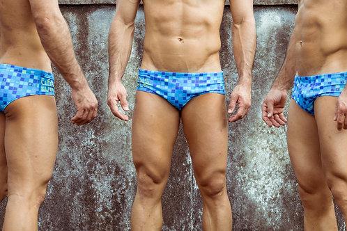 Pantaloneta de Baño Cuadritos Azul