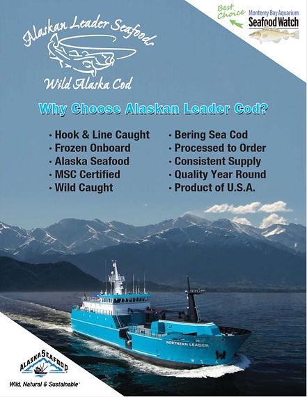 wild alaska pacific cod sushi safe sustainable omega 3