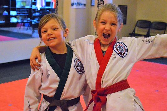 Two karate girls