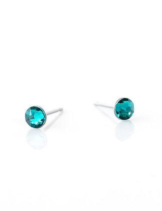 Boucles d'oreilles zircon bleu