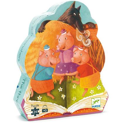 Djeco - Casse-tête - Les Trois Petits Cochons