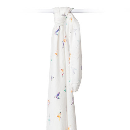 Lulujo Couverture de mousseline colibri- 47 » x 47 » (120cm x 120cm)