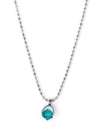 Collier zircon bleu
